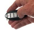 Duim op keyless draadloze deuropener Stock Afbeeldingen