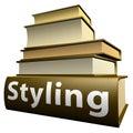 Duitse onderwijsboeken - ontwerp Royalty-vrije Stock Foto's