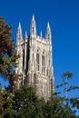 Duke chapel bell tower university located on the campus of university in durham north carolina Royalty Free Stock Image