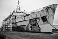 The duke of lancaster ferry has seen better days Royalty Free Stock Images