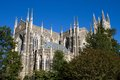 Duke university chapel is located on the campus of in durham north carolina and seats people Stock Photos