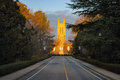 Duke university entrance to the campus is located in durham nc Stock Image