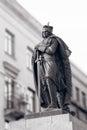Duke vytautas magnus sculpture in kaunas city black white Royalty Free Stock Photography