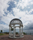 Duluth gazebo a on the shore of lake superior in mn Royalty Free Stock Image