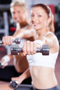 Dumbbell exercise Royalty Free Stock Images