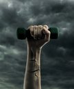 Dumbbell in hand Royalty Free Stock Photo