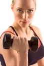 Činka žena hmotnosť v telocvičňa