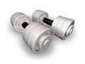 Dumbbells. Royalty Free Stock Image