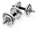 The dumbbells d generated picture of two metal Stock Photo