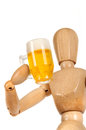 Dummy with beer mug Stock Photo