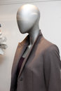 Dummy in a display window luxury coat Royalty Free Stock Image