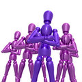 Dummy figure doll business team Stock Photography