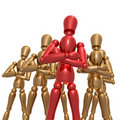 Dummy figure doll business team Royalty Free Stock Image