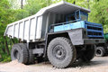 Dump truck big belaz resting outdoor Stock Photo