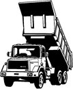 Dump Truck Cartoon Vector Clip...