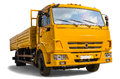 Dump truck on white background Royalty Free Stock Photo