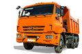Dump truck on white background Royalty Free Stock Photos