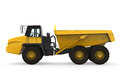 Dump truck on white background d render Stock Photography