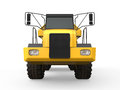 Dump truck on white background d render Stock Images