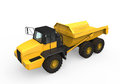 Dump truck on white background d render Royalty Free Stock Photos
