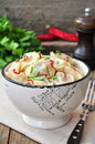 Dumplings and parsley - russian pelmeni - italian ravioli - on white plate Royalty Free Stock Photo
