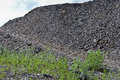 Dumps rock mountains from industrial quarries Royalty Free Stock Photo