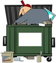 Dumpster Diving Man Royalty Free Stock Images