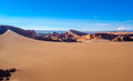 Dune in atacama sand desert Stock Images