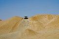 Dune bashing sahara desert tozeur tunisia is a popular tourist activity as part of safaris in the near Stock Photos