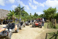 Dune buggies in dominican republic sitting empty on the island of the the buggy is a popular tourist attraction on this island Stock Photos
