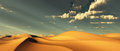 Dune dramatic desert dunes and sky Royalty Free Stock Photos