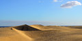 Dune maspalomas famous natural park dunes in gran canaria at evening time canary island spain Stock Photography