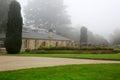 DUNEDIN, NEW ZEALAND - FEBR 10, 2015: garden at Larnach Castle Royalty Free Stock Photo