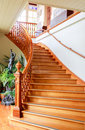 DUNEDIN, NEW ZEALAND - FEBR 10, 2015: gorgeous wooden staircase. Larnach Castle Royalty Free Stock Photo