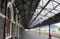 Dunedin railway station railroad in otago new zealand Royalty Free Stock Photography