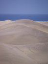 Dunes of maspalomas sand at the beach gran canaria Stock Photography