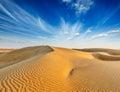 Dunes of Thar Desert, Rajasthan, India Royalty Free Stock Photo