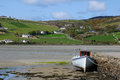 Dunfanaghy harbor in Donegal Ireland horizontal Stock Photography