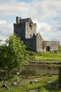 Dungarie castle ruins of dunguarie caisleán dhún guaire it is located in ireland europe Stock Photo