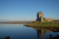 Dunguaire castle county galway ireland sits in ruins on bay just outside the tiny village of kinvara in western Royalty Free Stock Photos