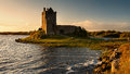 Dunguaire castle view of the at sunset Royalty Free Stock Image