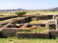Dungur palace ruins shot in ethiopia Royalty Free Stock Images