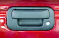 Dunkler gray exterior car door handle Stockbild