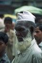 Dunkler mann mit einem bart in den straßen von indien Lizenzfreie Stockfotografie