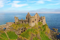 Dunluce castle famous irish of rules the coast northern ireland Royalty Free Stock Photography