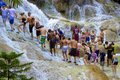 Dunn's river falls, Jamaica, Caribbean Royalty Free Stock Photo