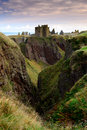 Dunnottar castle in aberdeen scotland on the cliff Royalty Free Stock Photography