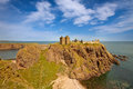 Dunnottar castle aberdeenshire scotland is a spectacular ruined medieval cliff top fortress dating to the fourteenth century and Royalty Free Stock Image