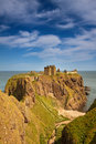 Dunnottar castle aberdeenshire scotland is a spectacular ruined medieval cliff top fortress dating to the fourteenth century and Royalty Free Stock Photo