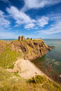 Dunnottar castle aberdeenshire scotland is a spectacular ruined medieval cliff top fortress dating to the fourteenth century and Stock Photos